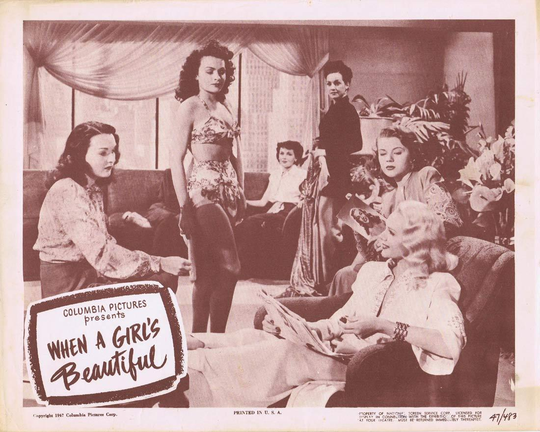 WHEN A GIRL'S BEAUTIFUL Lobby Card 8 Tyrone Power Jean Peters Cesar Romero