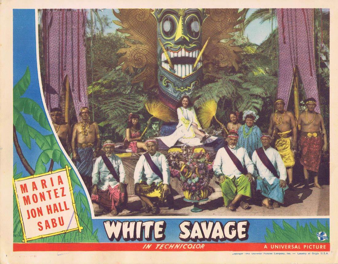 WHITE SAVAGE Lobby Card 3 Maria Montez Jon Hall Sabu Turhan Bey