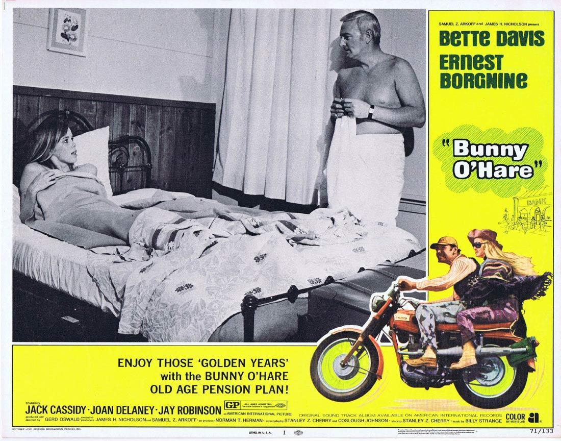 BUNNY O'HARE Lobby Card 1 Bette Davis Ernest Borgnine Jack Cassidy