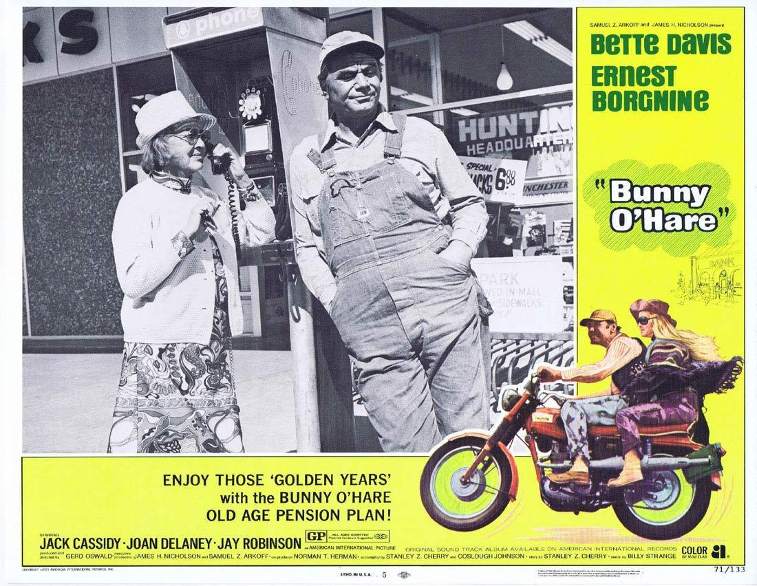 BUNNY O'HARE Lobby Card 5 Bette Davis Ernest Borgnine Jack Cassidy
