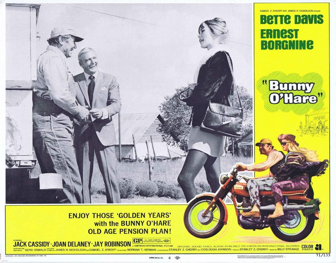BUNNY O'HARE Lobby Card 6 Bette Davis Ernest Borgnine Jack Cassidy