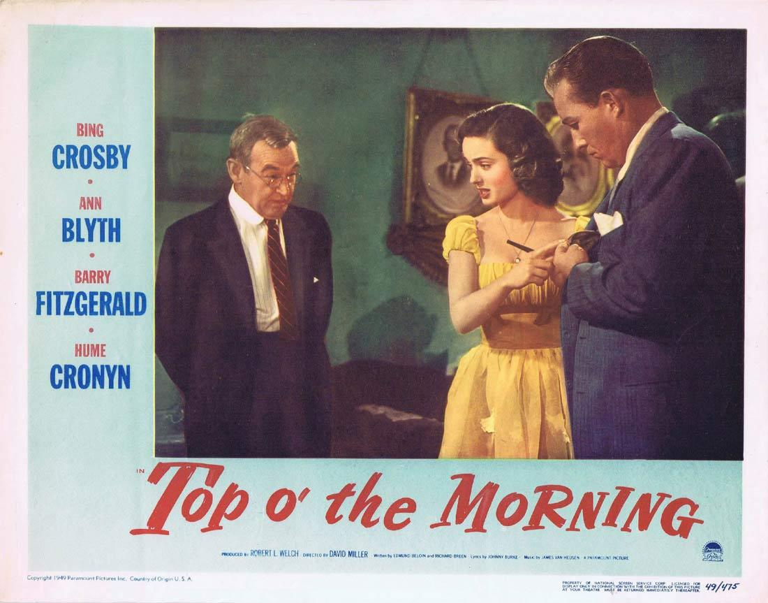 TOP OF THE MORNING Lobby Card 2 1949 Bing Crosby Barry Fitzgerald