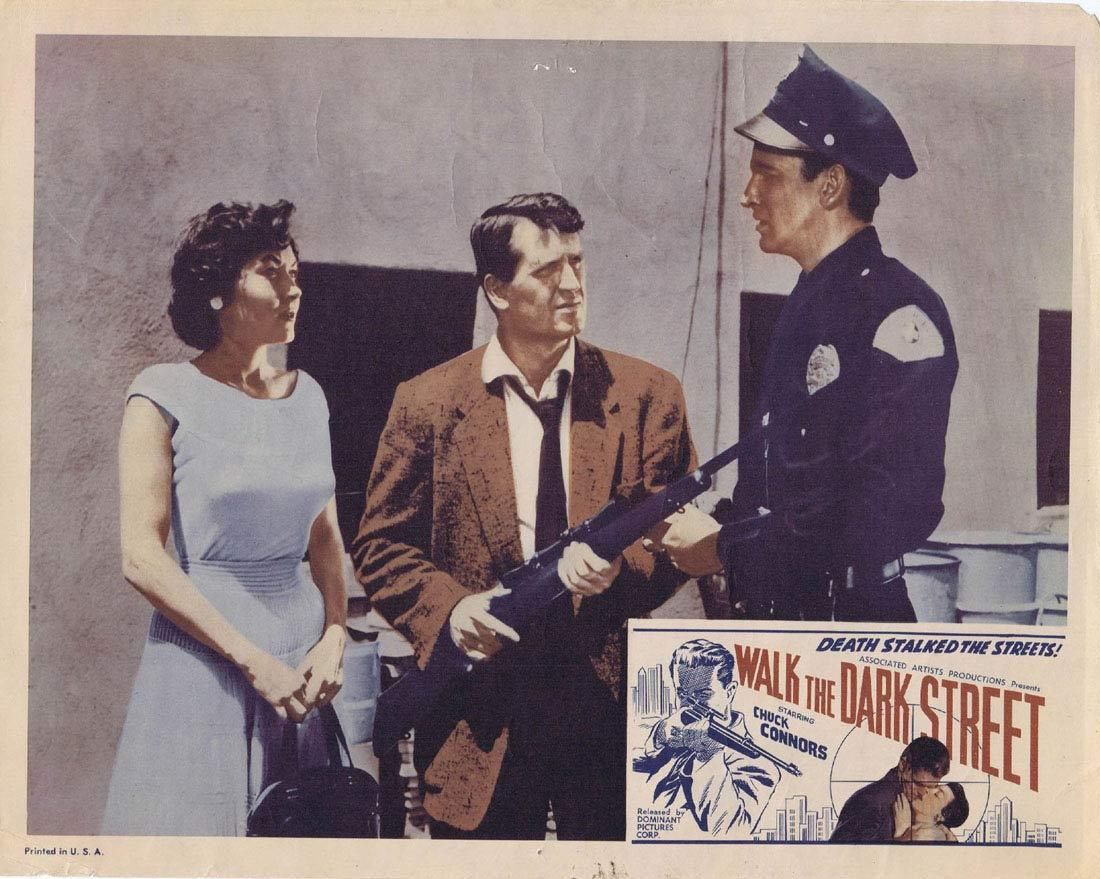 WALK THE DARK STREET Lobby Card 2 Chuck Connors Don Ross Regina Gleason