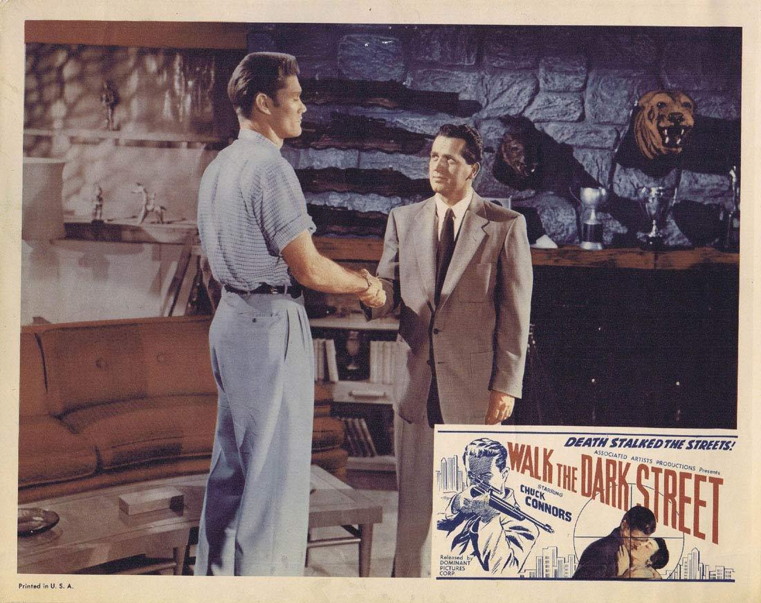 WALK THE DARK STREET Lobby Card 3 Chuck Connors Don Ross Regina Gleason