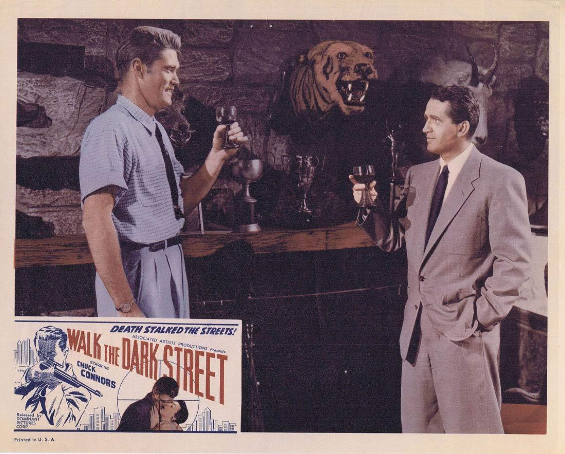 WALK THE DARK STREET Lobby Card 4 Chuck Connors Don Ross Regina Gleason