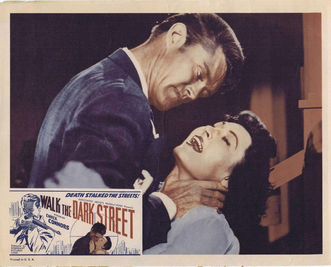 WALK THE DARK STREET Lobby Card 5 Chuck Connors Don Ross Regina Gleason