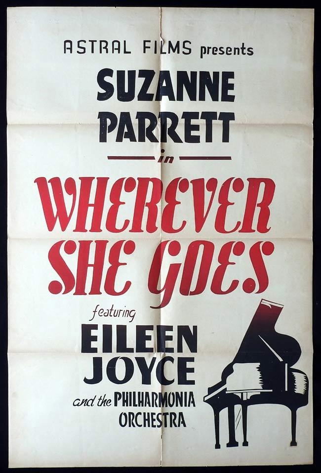 WHEREVER SHE GOES Original Canadian One sheet Movie Poster