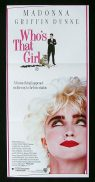 WHO'S THAT GIRL Original Daybill Movie Poster Griffin Dunne Madonna