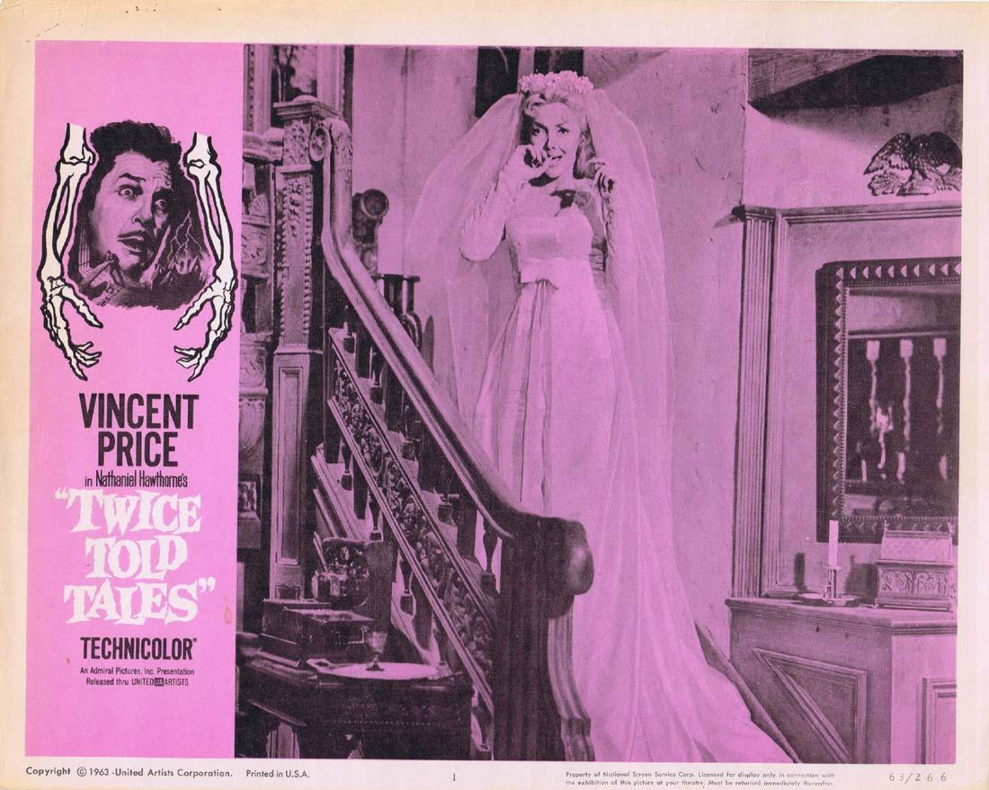 TWICE TOLD TALES Original Lobby Card 1 Vincent Price Sebastian Cabot Beverly Garland