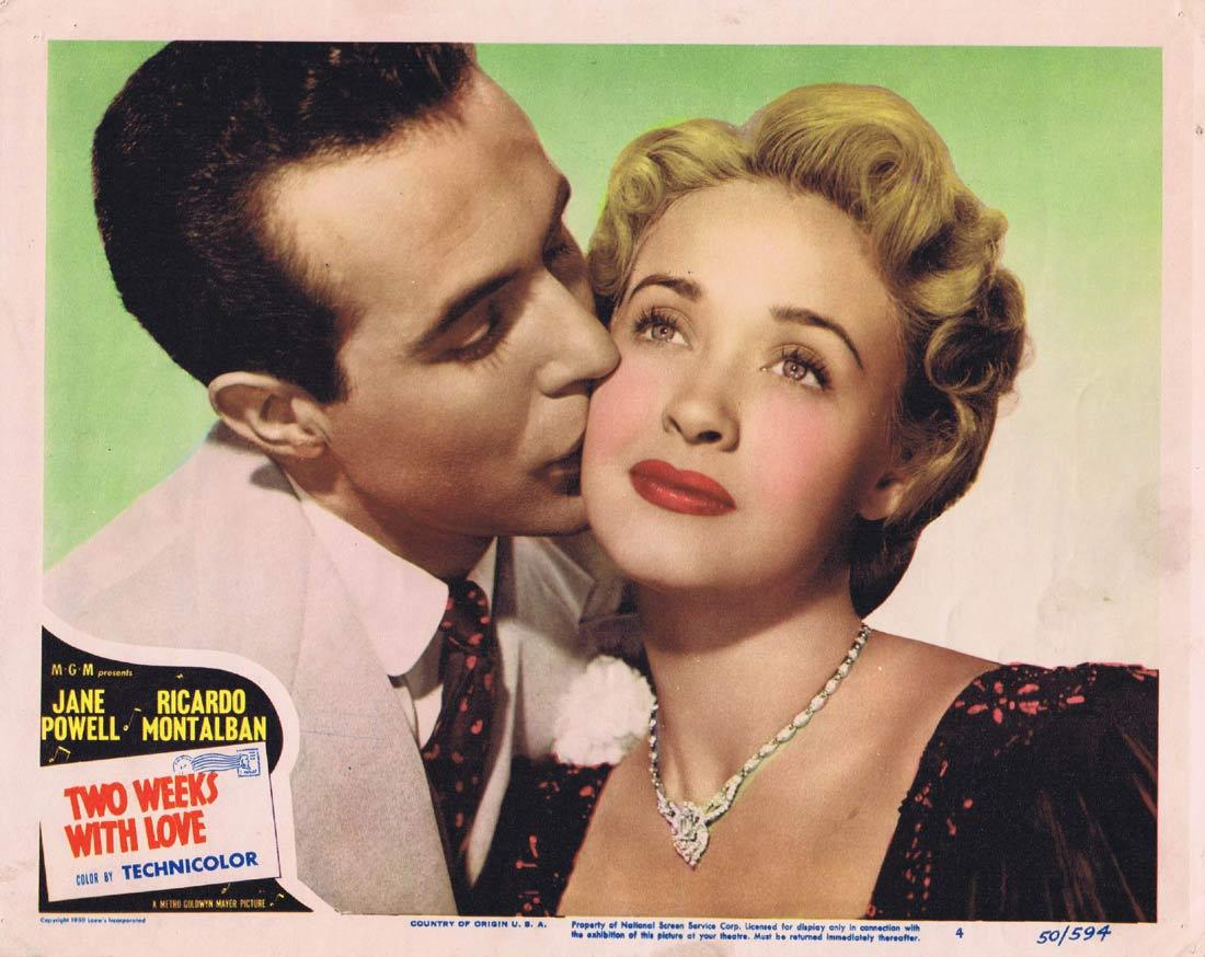 TWO WEEKS WITH LOVE Original Lobby Card 4 Jane Powell Ricardo Montalbán Louis Calhern