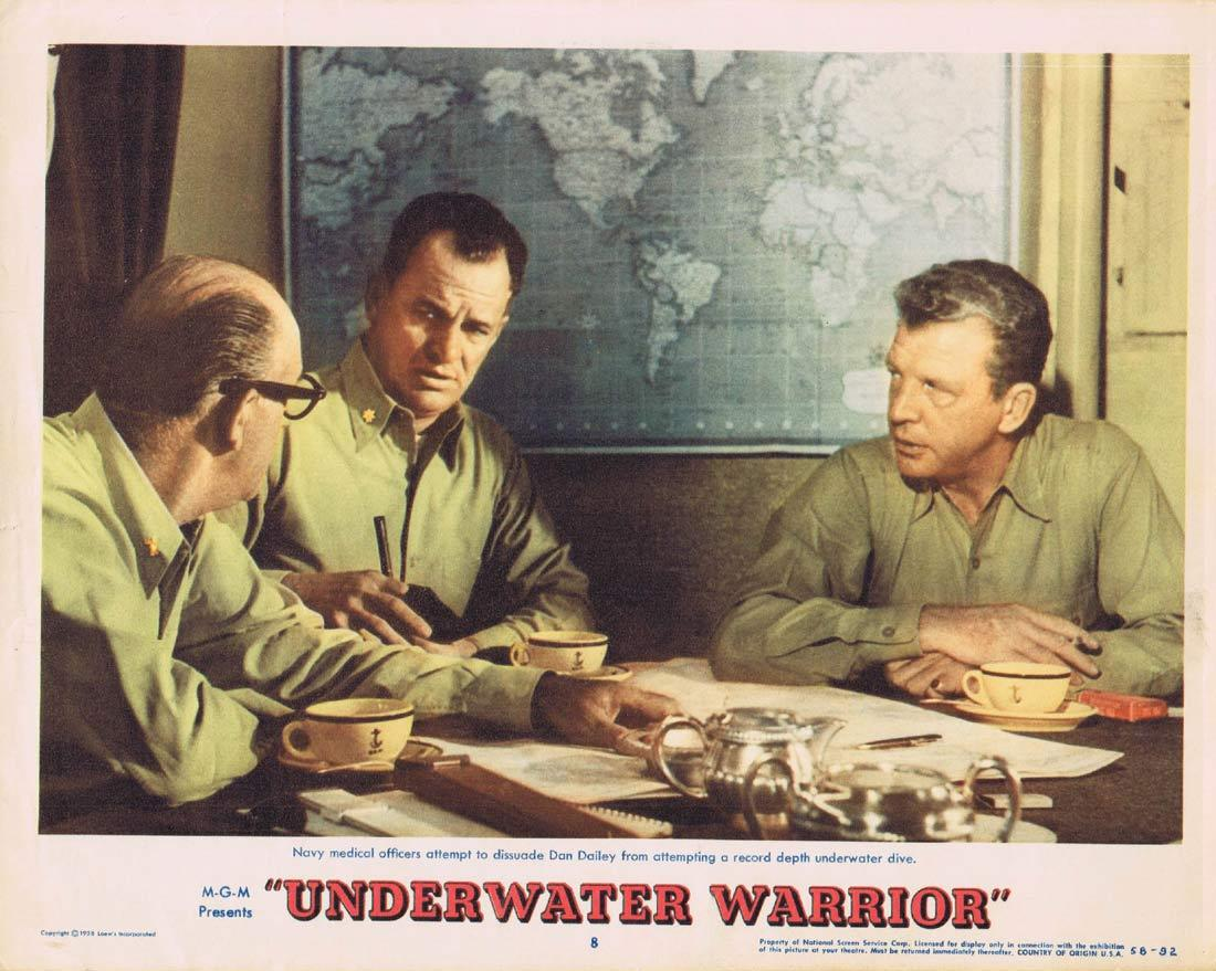 UNDERWATER WARRIOR Original Lobby Card 8 Dan Dailey Skin Diving