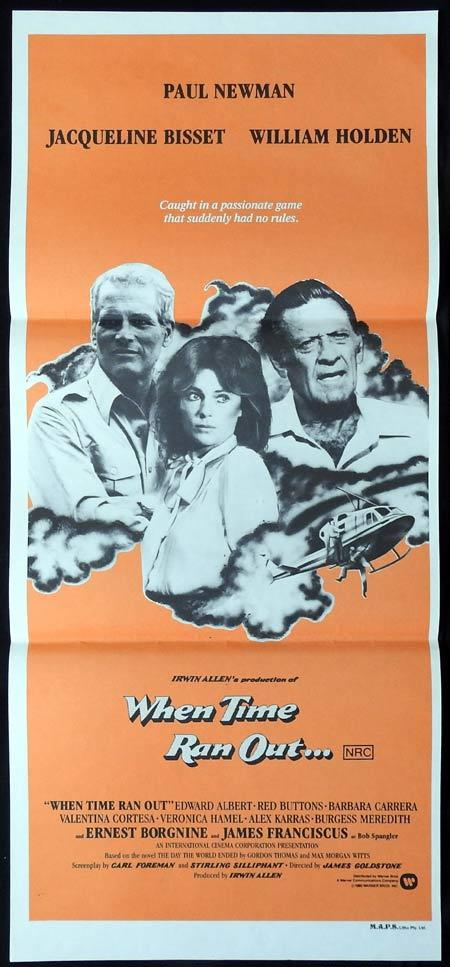 WHEN TIME RAN OUT Original Daybill Movie Poster William Holden Paul Newman