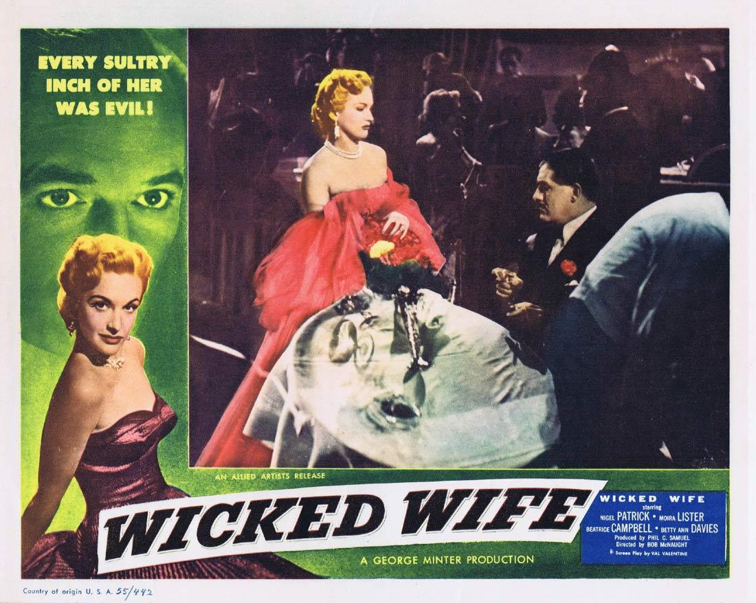 WICKED WIFE Original Lobby Card 2 Nigel Patrick Moira Lister Beatrice Campbell