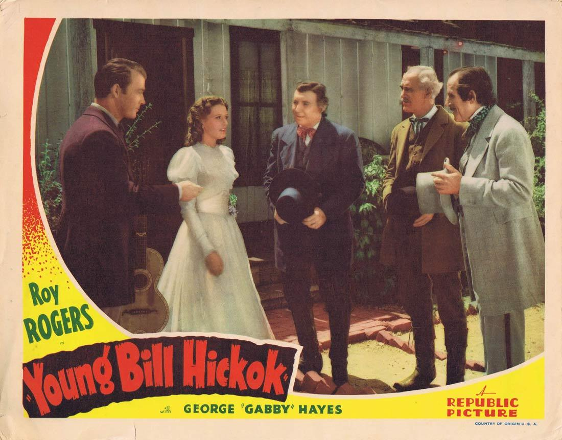 YOUNG BILL HICKOK Original Lobby Card Roy Rogers 1940 Republic Pictures