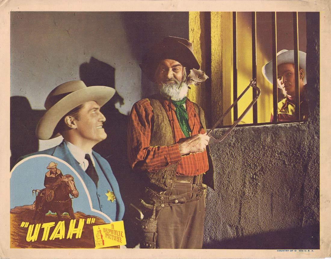 UTAH Vintage Lobby Card Roy Rogers in Jail