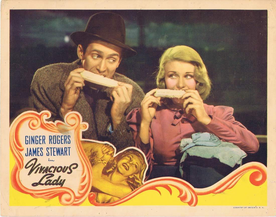 VIVACIOUS LADY Vintage Lobby Card Ginger Rogers James Stewart James Ellison