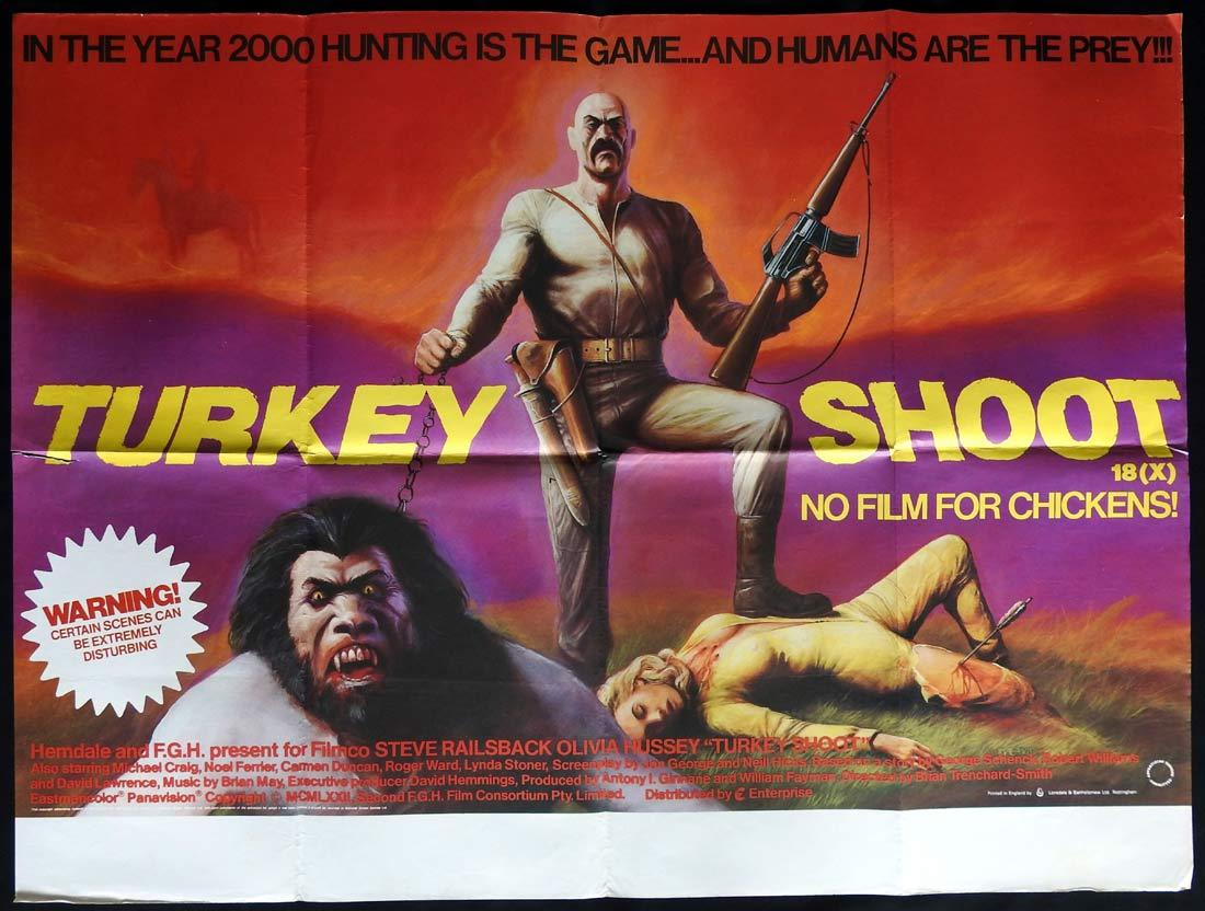 TURKEY SHOOT British Quad Movie poster Brian Trenchard-Smith Horror