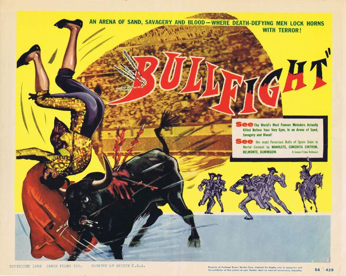 BULLFIGHT Original Title Lobby Card Manolete Conchita Cintron Belmonte