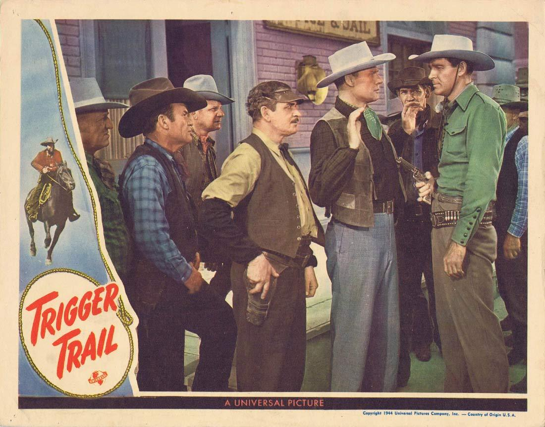TRIGGER TRAIL Original Lobby Card Rod Cameron Fuzzy Knight Eddie Dew