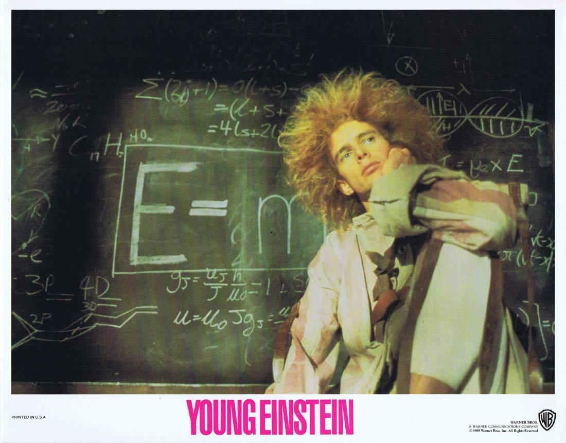 YOUNG EINSTEIN Original Lobby Card 3 YAHOO SERIOUS Albert Einstein