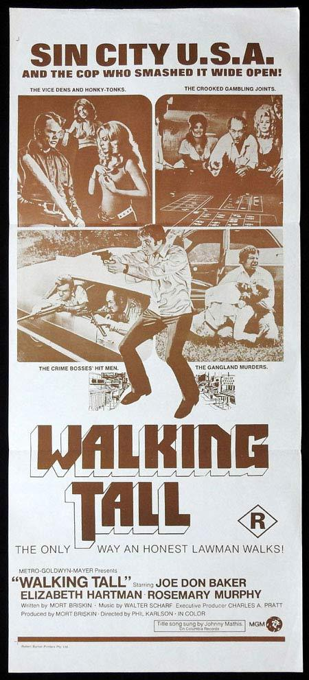 WALKING TALL Original Daybill Movie Poster Joe Don Baker Elizabeth Hartman