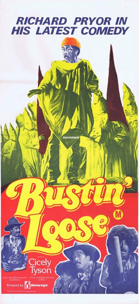 BUSTIN LOOSE Daybill Movie poster Richard Pryor
