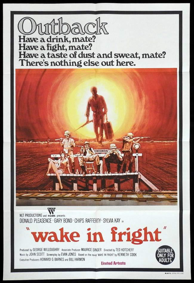 WAKE IN FRIGHT aka OUTBACK One sheet Movie poster Rare Chips Rafferty