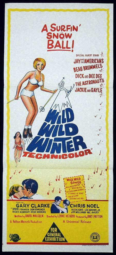WILD WILD WINTER Original Daybill Movie Poster Snow Ski Gary Clarke Chris Noe