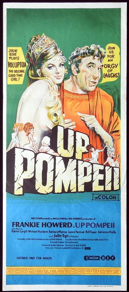 UP POMPEII Original Daybill Movie Poster Frankie Howerd Julie Ege