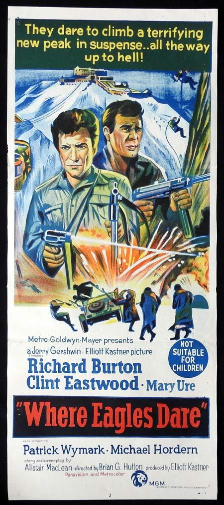 WHERE EAGLES DARE Original Daybill Movie Poster CLINT EASTWOOD Richard Burton