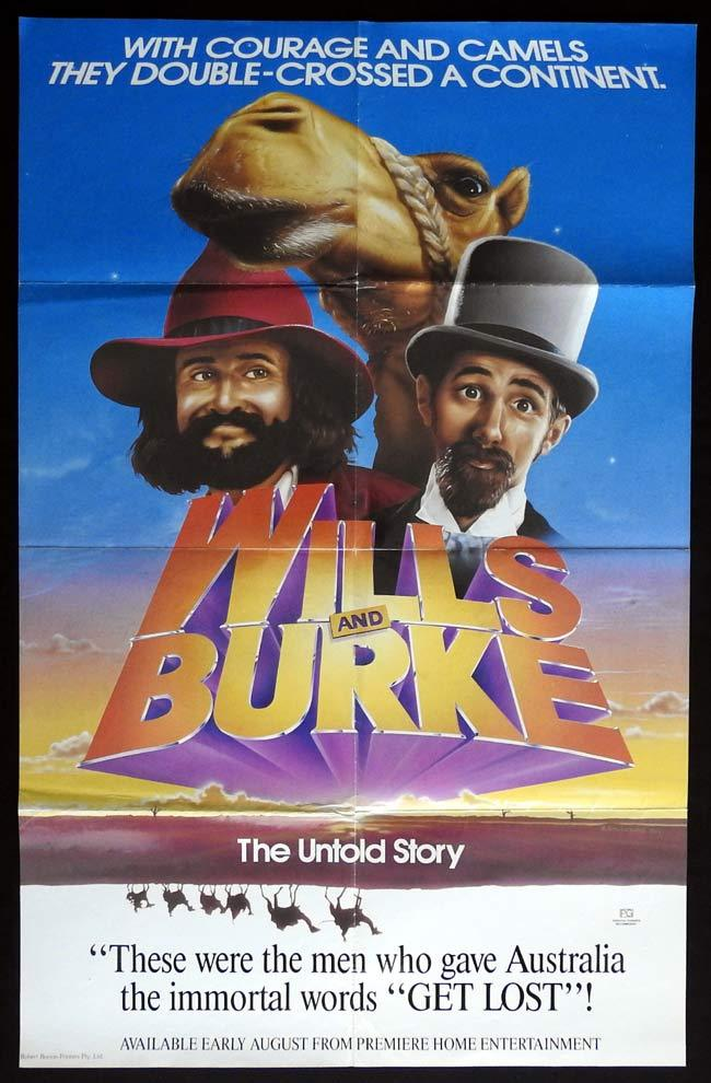 WILLS AND BURKE Movie Poster 1985 Garry McDonald One sheet Movie poster