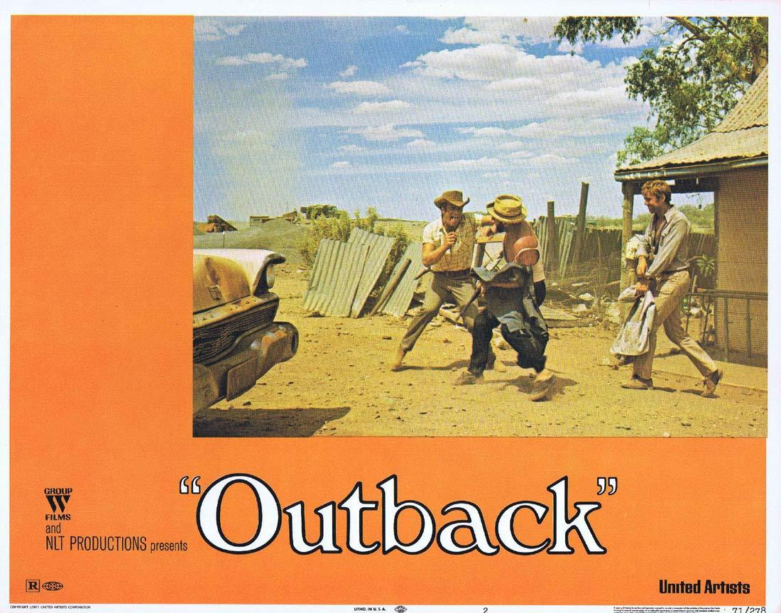 WAKE IN FRIGHT aka OUTBACK Lobby Card 2 1970 Chips Rafferty Donald Pleasence