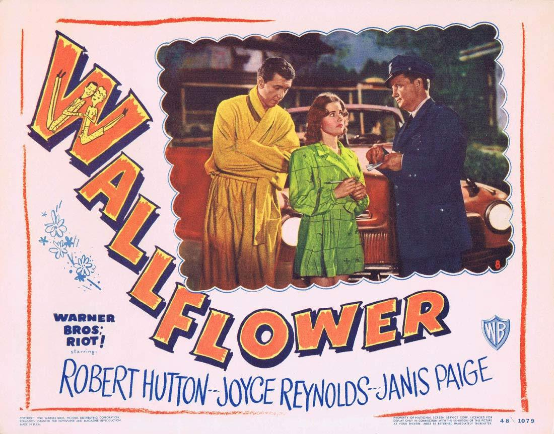 WALLFLOWER Original Lobby Card 8 Robert Hutton Joyce Reynolds