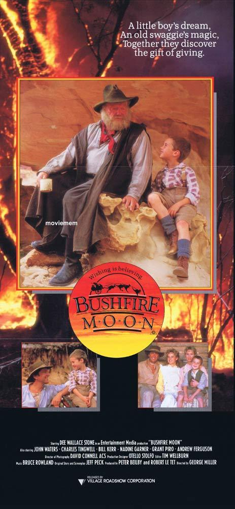 BUSHFIRE MOON Daybill Movie Poster 1987 Miracle Down Under George Miller