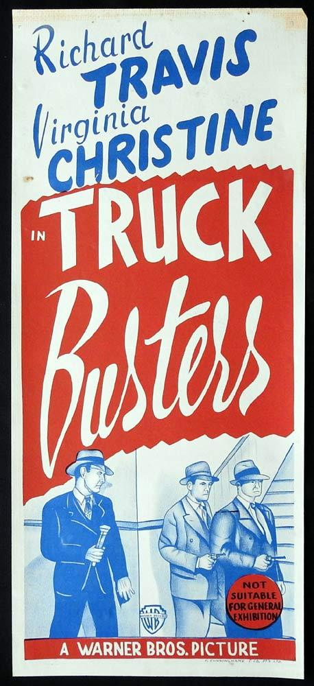 TRUCK BUSTERS Original Daybill Movie poster Richard Travis Virginia Christin