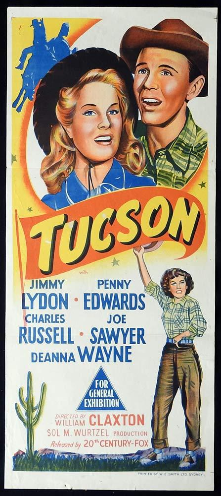 TUCSON Original Daybill Movie poster Jimmy Lydon Penny Edwards