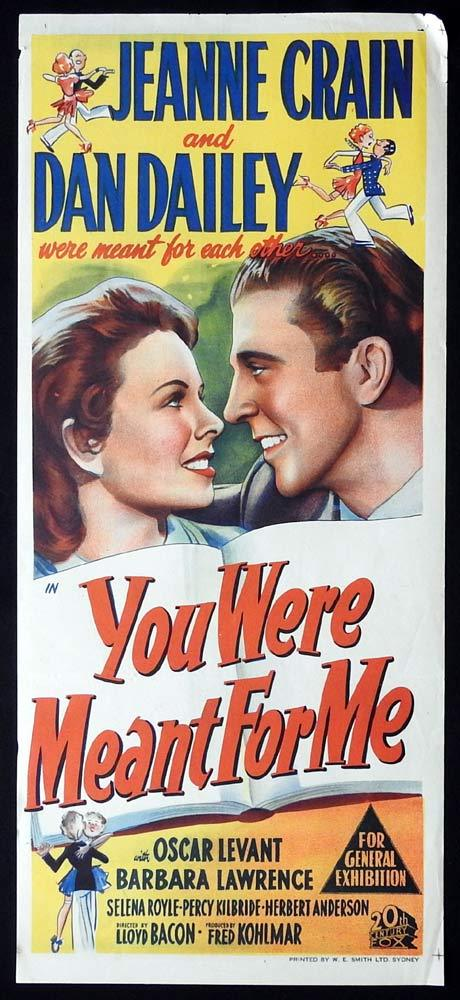 YOU WERE MEANT FOR ME Original Daybill Movie poster Dan Dailey Jeanne Crain