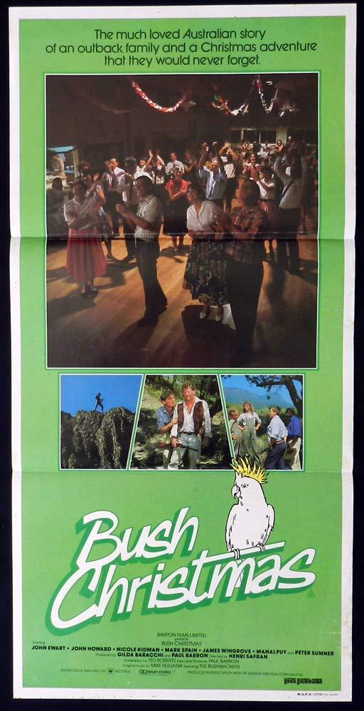 BUSH CHRISTMAS Original Daybill Movie Poster NICOLE KIDMAN John Ewart