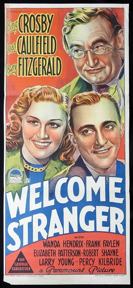 WELCOME STRANGER Original Daybill Movie poster Bing Crosby Richardson Studio