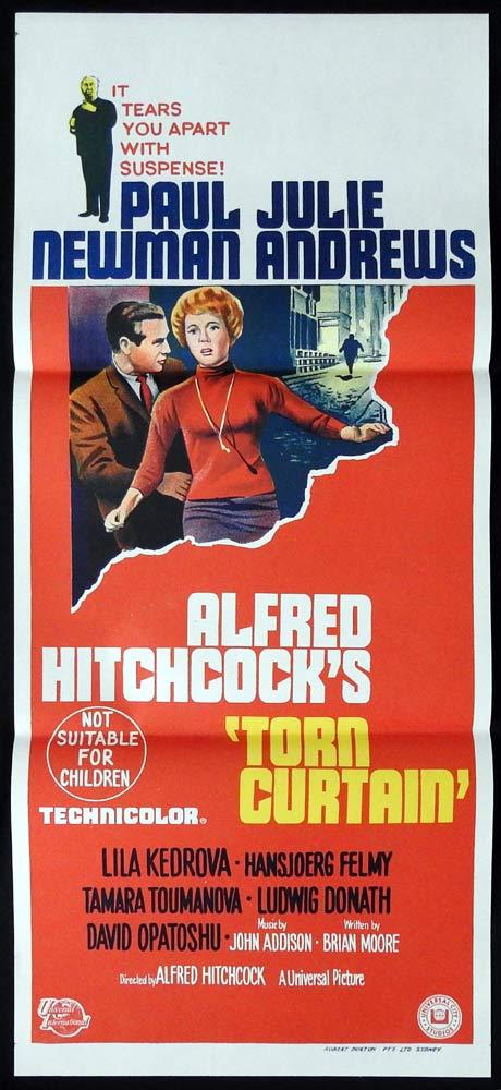 TORN CURTAIN Original Daybill Movie poster Alfred Hitchcock Julie Andrews