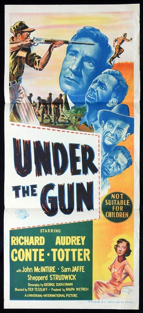 UNDER THE GUN Original Daybill Movie poster