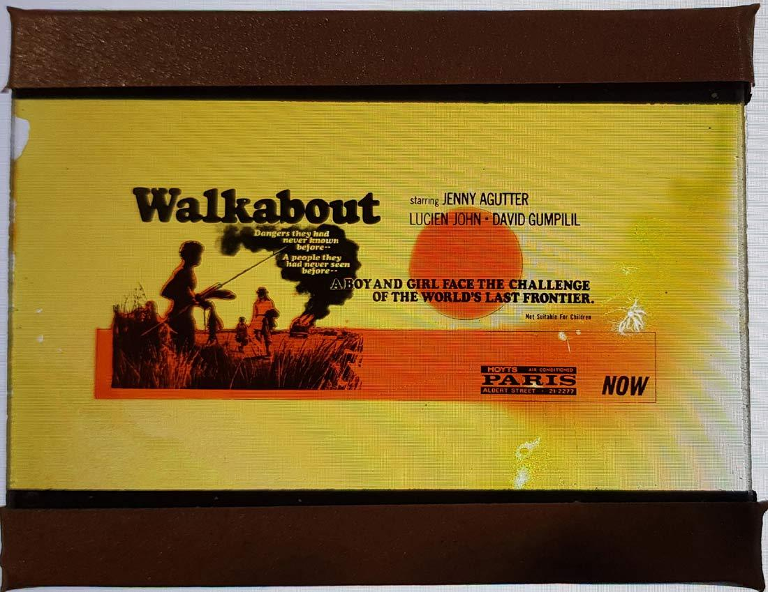WALKABOUT Movie Glass Slide Nicolas Roeg Jenny Agutter