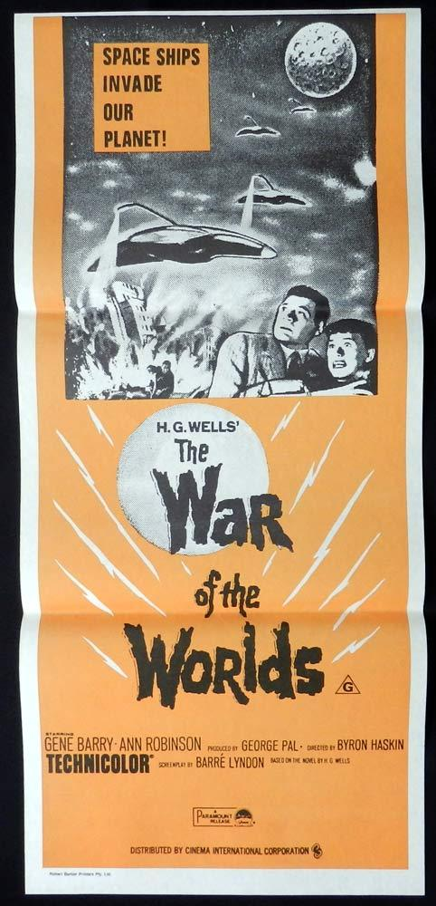WAR OF THE WORLDS Original 1970sr Daybill Movie Poster