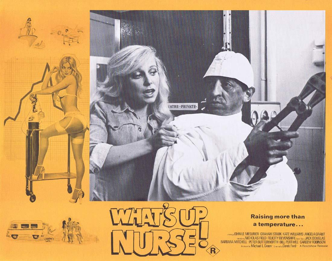 WHAT'S UP NURSE Original Lobby Card 2 Felicity Devonshire