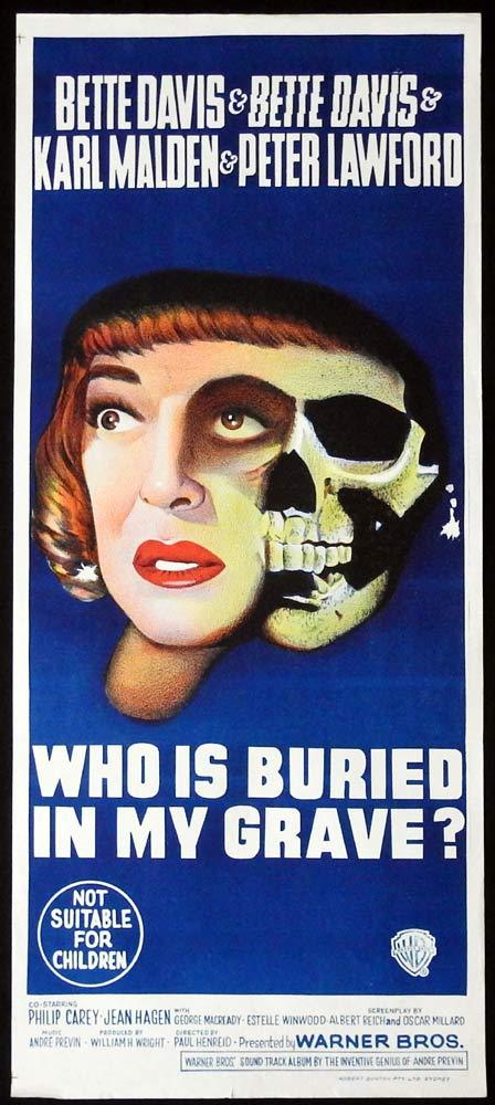 WHO IS BURIED IN MY GRAVE Original Daybill Movie Poster Bette Davis