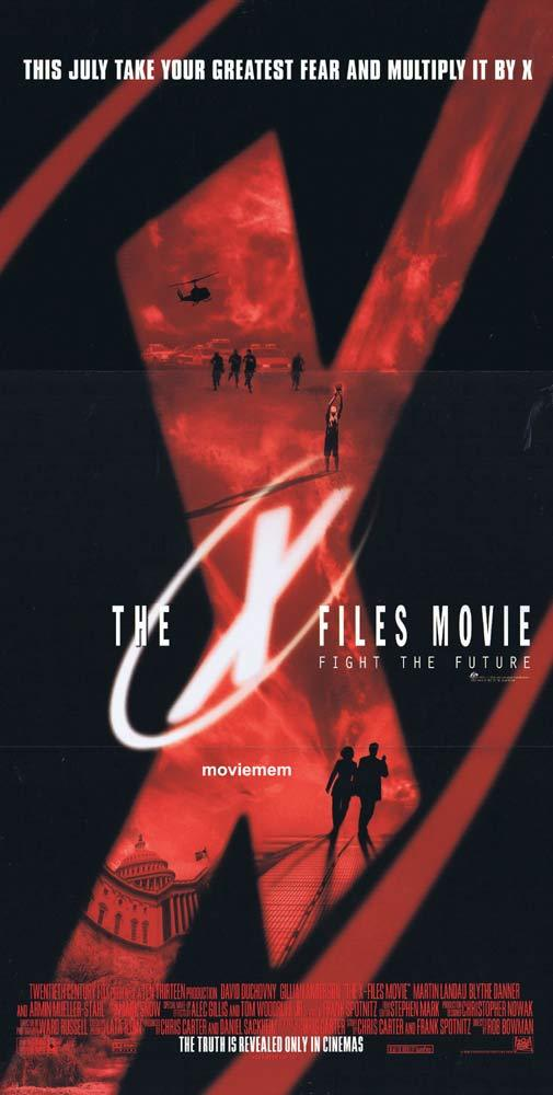 X FILES THE MOVIE Original Daybill Movie poster Gillian Anderson