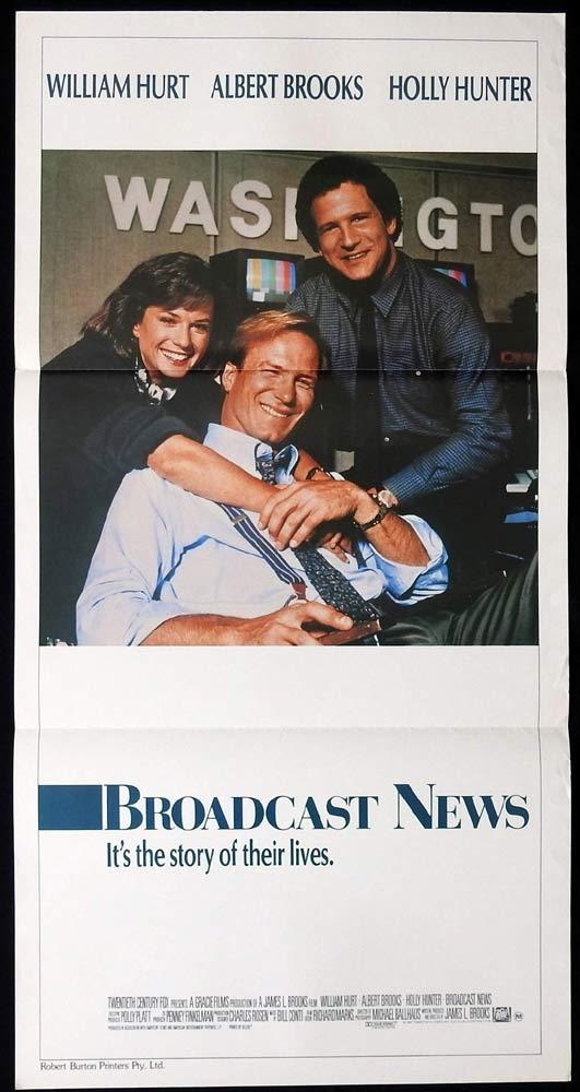 BROADCAST NEWS Daybill Movie Poster William Hurt