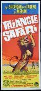 TRIANGLE SAFARI Daybill Movie poster Ann Sheridan David Farrar