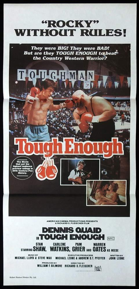 TOUGH ENOUGH Original Daybill Movie Poster Dennis Quaid Pam Grier BOXING