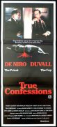 TRUE CONFESSIONS Daybill Movie poster Robert DeNiro